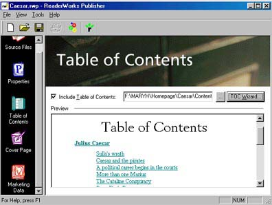 Image 2: ReaderWorks: Table of Contents